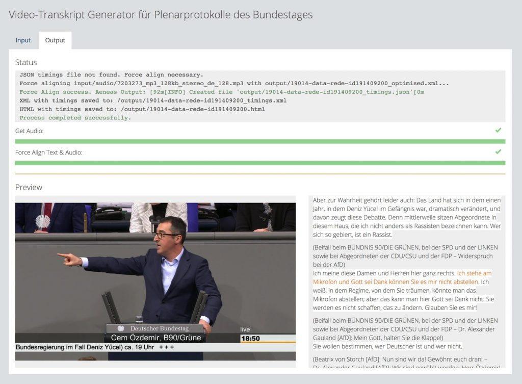 Cem Özdemir: Video-Transkript Generator