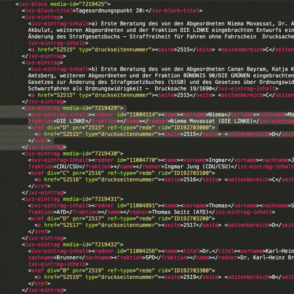 Open Data XML